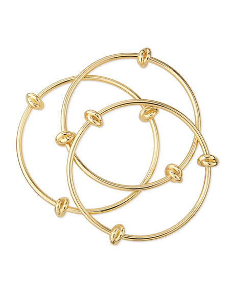 Set of Three Knotted Bangles