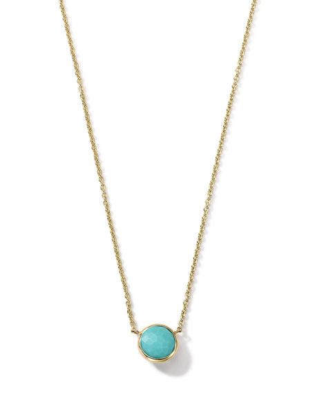 18K Gold Mini-Lollipop Birthstone Necklace (December), 16-18