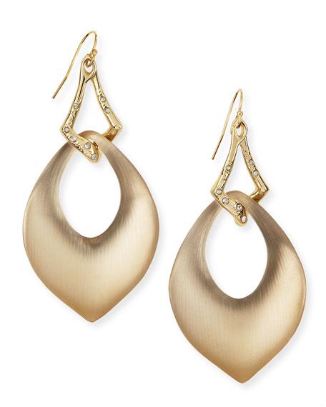 Vert d'Eau Interlocked Lucite Teardrop Wire Earrings