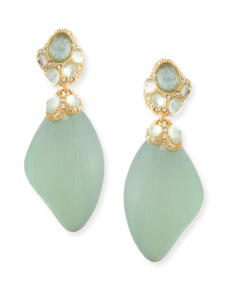 Vert d'Eau Mother-of-Pearl Dangle Earrings