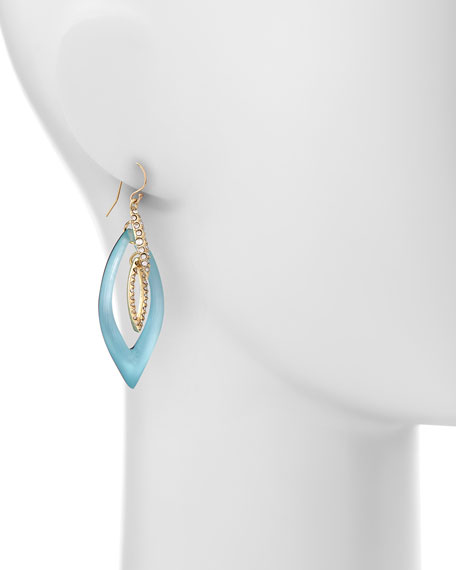 Vert d'Eau Interlinked Lucite Teardrop Earrings