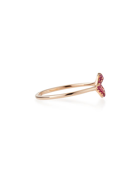 PAVE LIPS RING