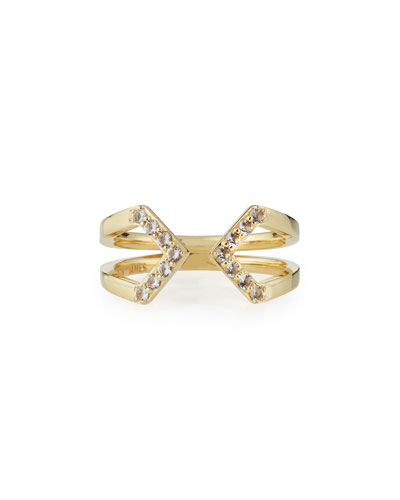 Kuril 23k Gold-Plate V-Tip Ring