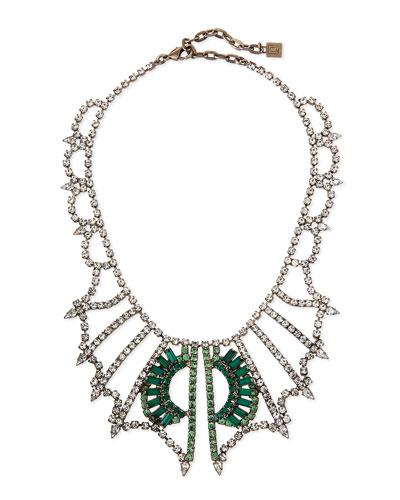 Parker Crystal Bib Necklace