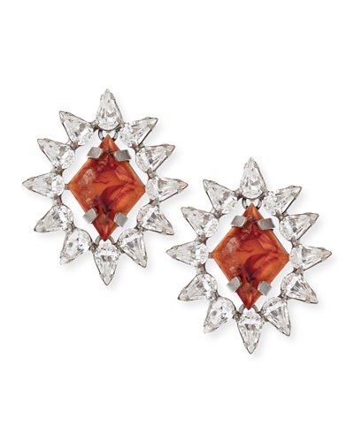 Neva Crystal Stud Earrings