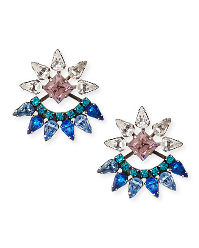 Livi Crystal Jacket Earrings