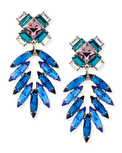 Simon Crystal Drop Earrings