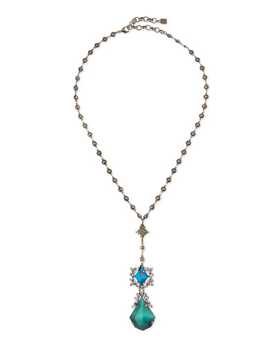 Abyss Crystal Y Necklace