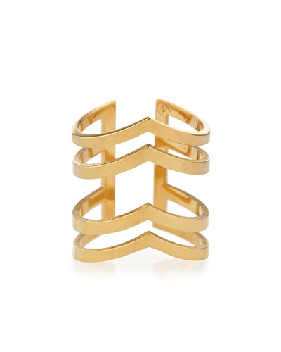 Margot V'd Four-Band Ring