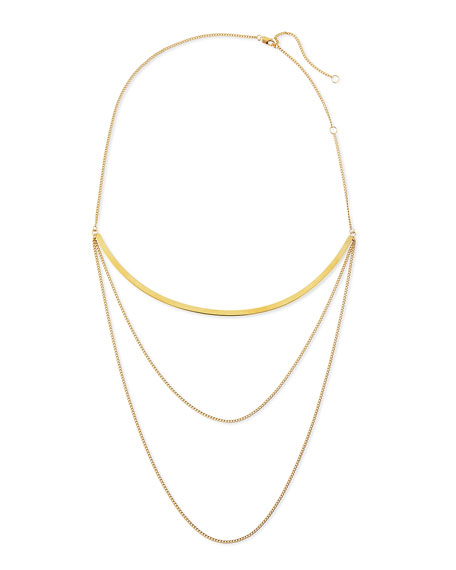 Jennifer Zeuner Kendall Multi-Chain Choker Necklace