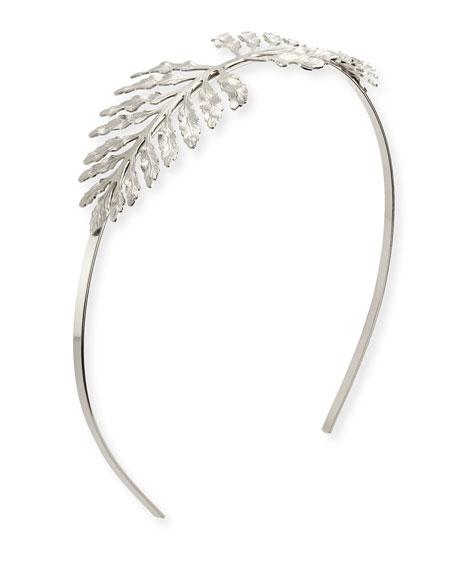 Fern Metal Headband, Silver