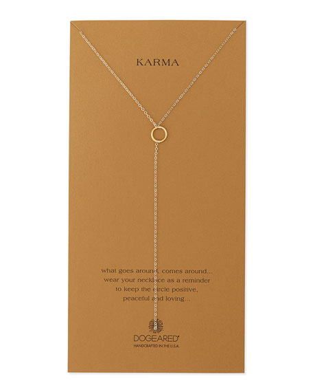 Gold-Dipped Karma Y-Necklace