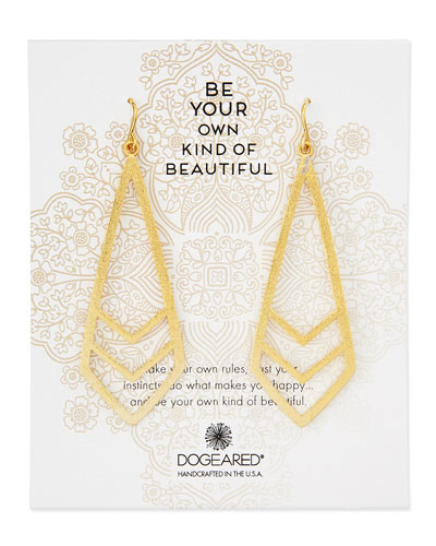 Gold-Dipped Be Your Own Kind of Beautiful Chevron Earrings