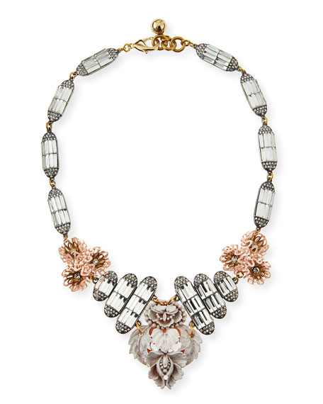 Ingrid Floral Crystal Bib Necklace
