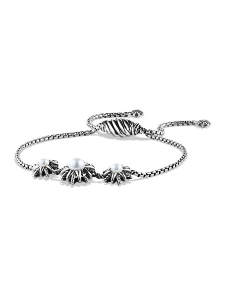 David Yurman Starburst Three-Station Bracelet with Pearls