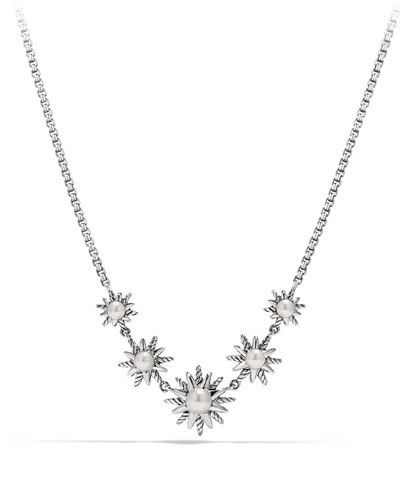Starburst Five-Station Necklace with Pearls