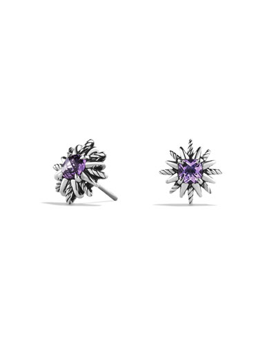Starburst Stud Earrings with Amethyst