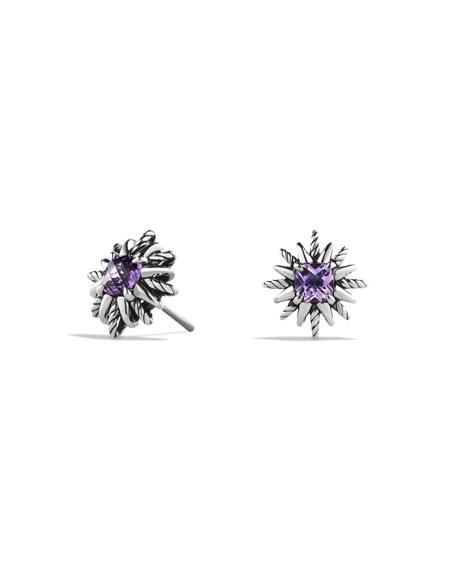 Starburst Stud Earrings with Amethyst
