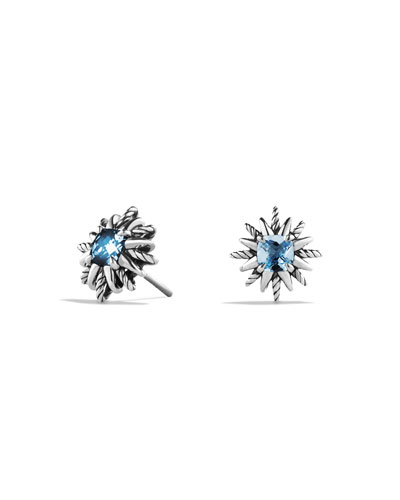 Starburst Earrings with Blue Topaz