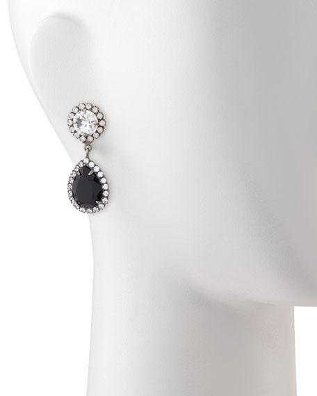 Monaco Black Teardrop Earrings