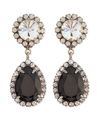 Monaco Black Teardrop Earrings