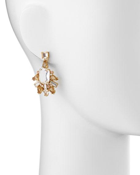 formal facets chandelier earrings
