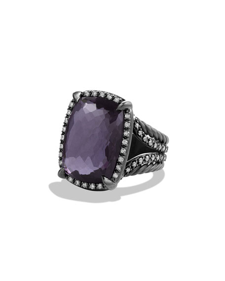 David Yurman Chatelaine Ring with Black Orchid and