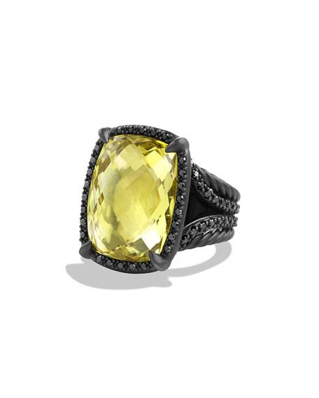 David Yurman Chatelaine Ring with Lemon Citrine and
