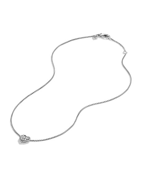 Chatelaine Heart Pendant Necklace with Diamonds