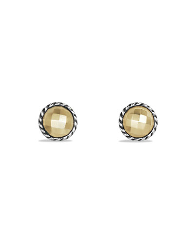 Chatelaine Stud Earrings with Gold