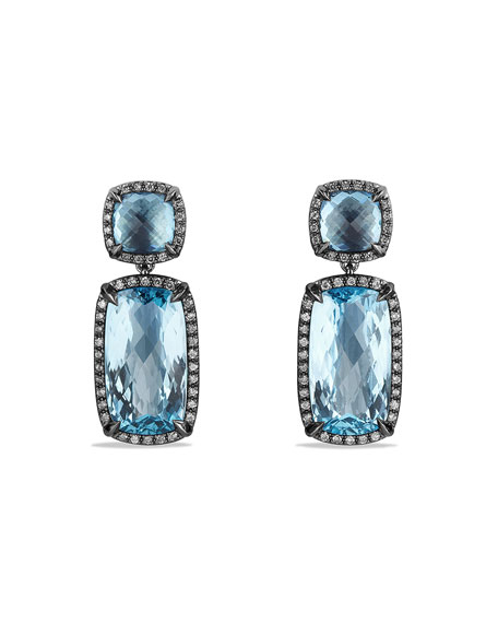 David Yurman Chatelaine Drop Earrings with Blue Topaz