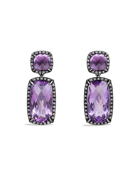 David Yurman Chatelaine Drop Earrings with Amethyst and