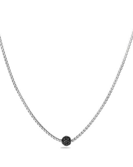 David Yurman Petite Pave Necklace with Black Diamonds