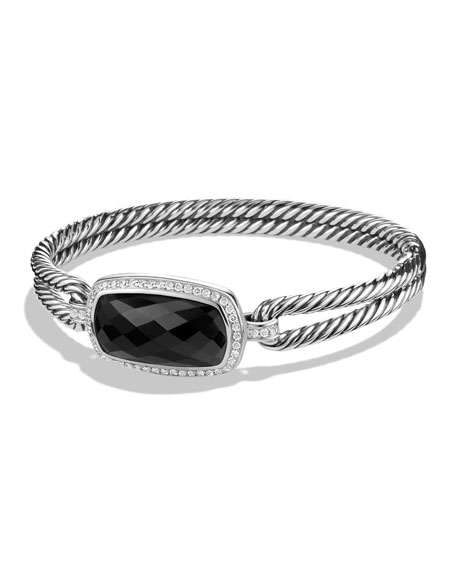 David Yurman Albion Bracelet with Black Onyx and
