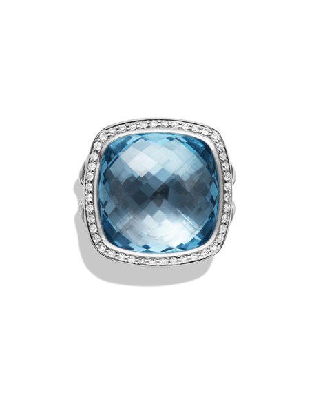 Albion Ring with Blue Topaz and Diamonds