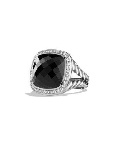 Albion Ring with Onyx and Diamonds