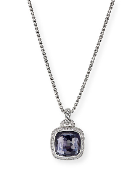 David Yurman Albion Pendant with Black Orchid and