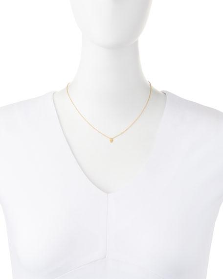 Hamsa Pendant Bezel Diamond Necklace