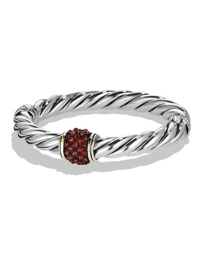 Osetra Bracelet with Garnet and Gold