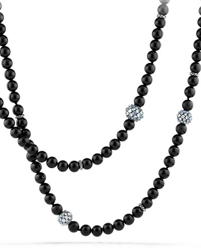 Necklace with Black Onyx and Moonstone