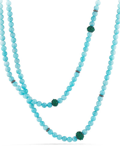 Necklace with Amazonite and Green Onyx