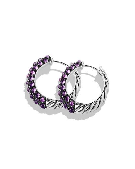 Hoop Earrings with Amethyst