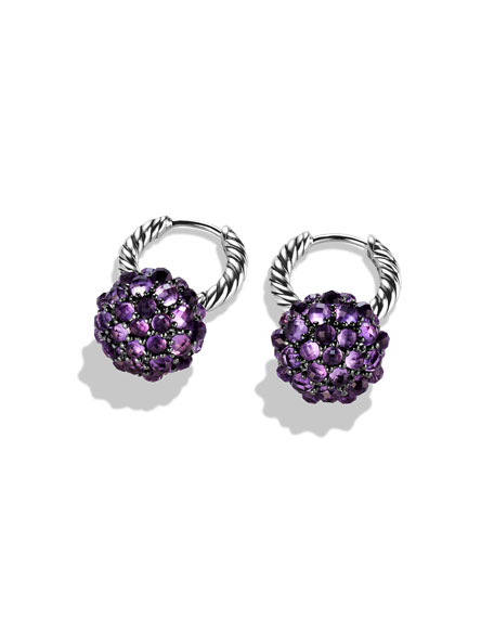 Osetra Earrings with Amethyst