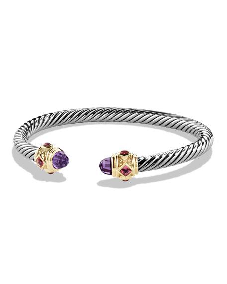 David Yurman Renaissance Bracelet with Amethyst, Pink Tourmaline,
