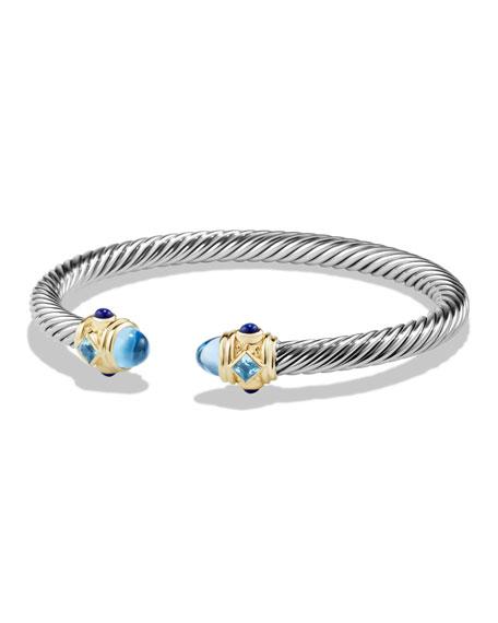 Renaissance Bracelet with Blue Topaz, Lapis, and Gold