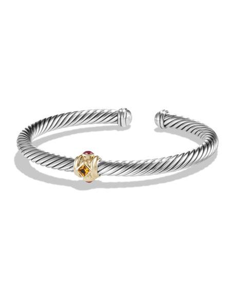 David Yurman Renaissance Single Station Bracelet with Gold