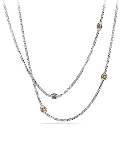 Renaissance Station Necklace with Gold, 36""