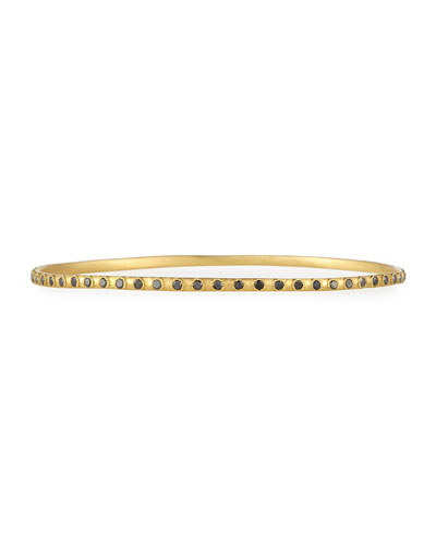 Sueno 18k Black Diamond Eternity Bangle