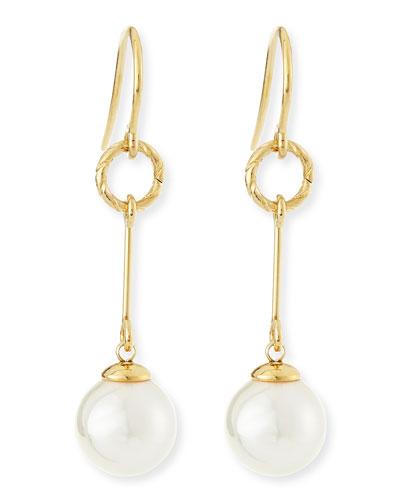 Pearl Gold Vermeil Drop Earrings