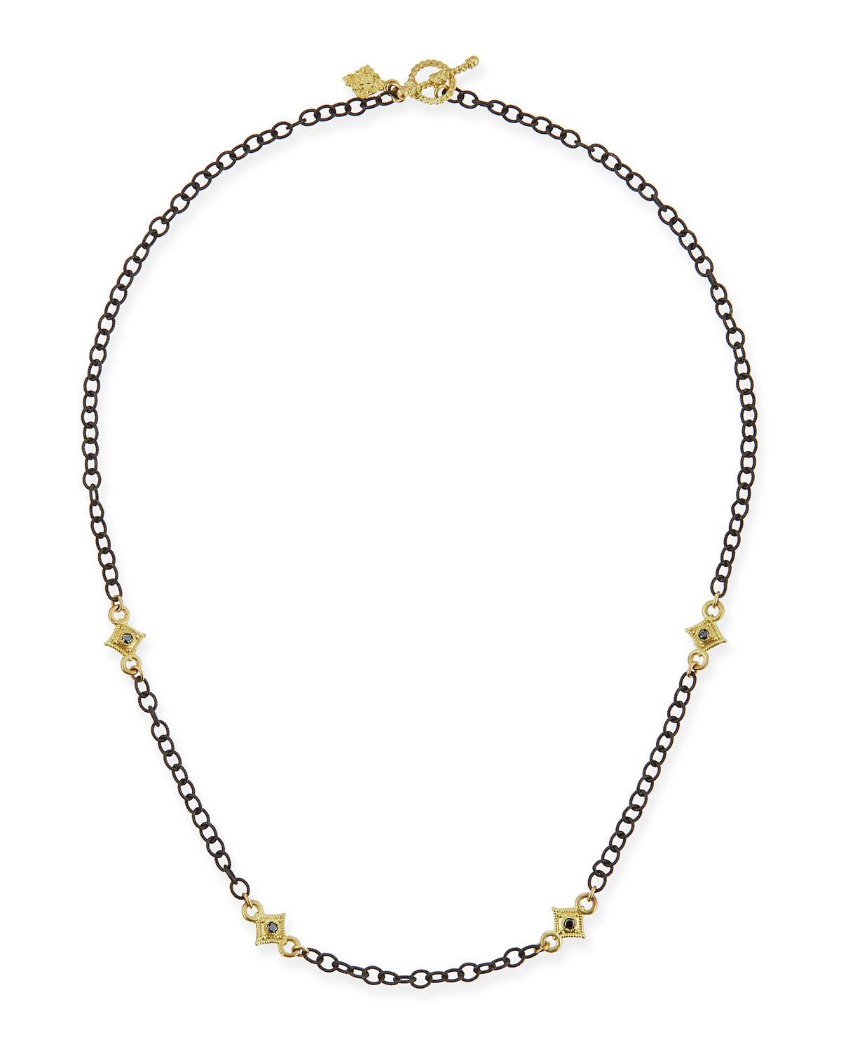 Armenta Heraldry Cable Chain Cross Necklace, 16L